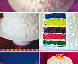 Rainbow Birthday Cake - My Family Ties