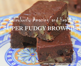 Ridiculously Amazing (and Healthy) Fudgy Brownies  - Gluten-free, Grain-free