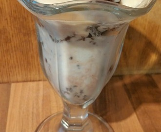 Recipe- Slimming World Chocolate Brownie Ice Cream Sundae & Toffee Sauce