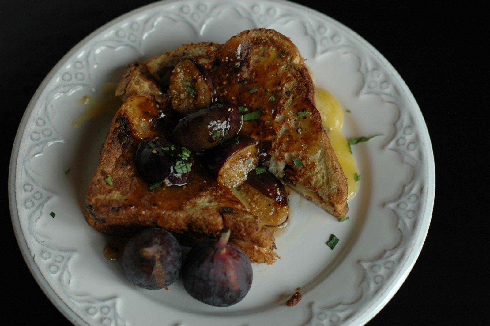 Pan Seared Fig Stuffed French Toast Grilled Cheese and a 3/1 Challange