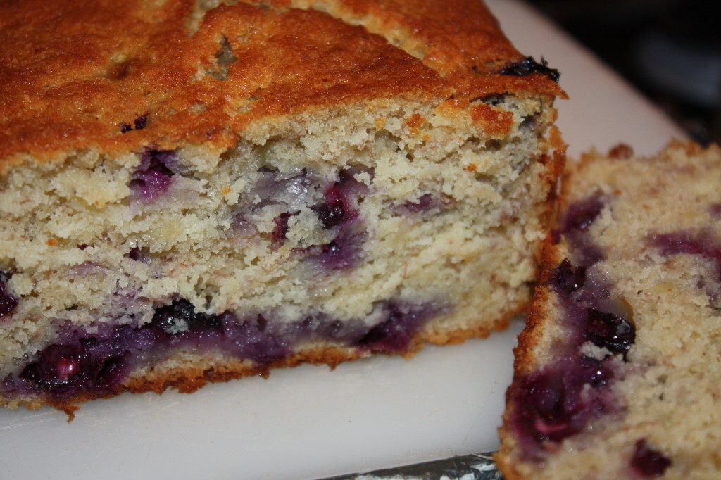 Banana & Blueberry Buttermilk Loaf Cake