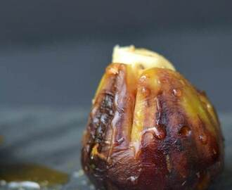 Easy Grilled Figs Stuffed with Brie and Honey