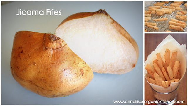 Baked Lime, Cilantro and Chili Infused Jicama Fries + Health Benefits of Jicama