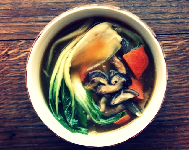 Rev Up Your Digestion with Easy Everyday Tips + Shitakii Mushroom, Bok Choi and Sweet Potato Miso Soup Recipe for Optimal Digestion