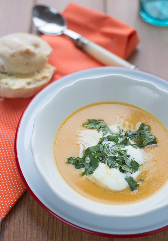Carrot, Coriander and Parsnip Soup