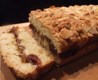 Mincemeat & apple shortcake slice