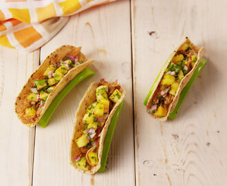 Coffee-Marinated BBQ Chicken Tacos