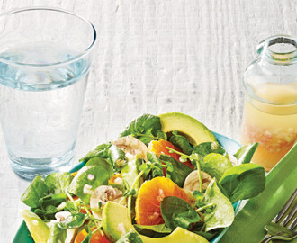 Watercress, Avocado, and Tangerine Salad