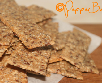 Sesame & Linseed Savoury Crackers Recipe!