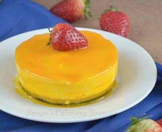 Mini Mango Cheesecake - Eggless & No Bake