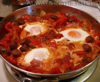Breakfast at home: Shakshuka