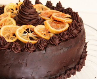 My 27th Birthday and Orange Chocolate Cake with Ganache Frosting and Candied Citrus