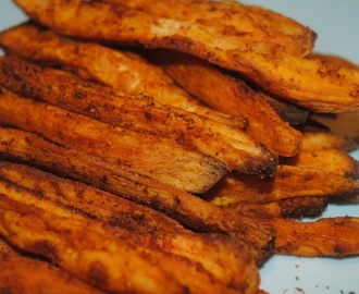 Hot and spicy crispy sweet potato fries