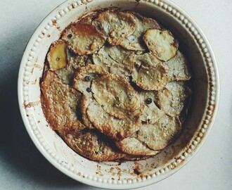 Tahini Potato Gratin It is August. Yesterday I set about my...