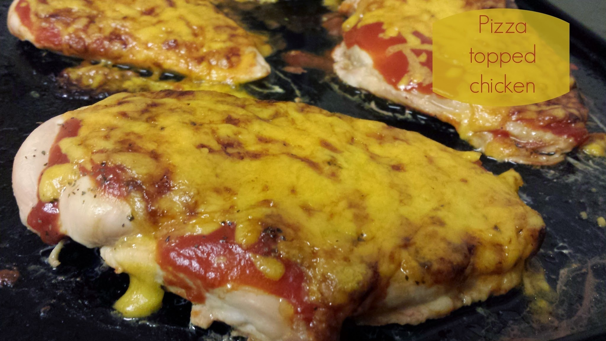 Recipe - Pizza topped chicken (#SlimmingWorld friendly)