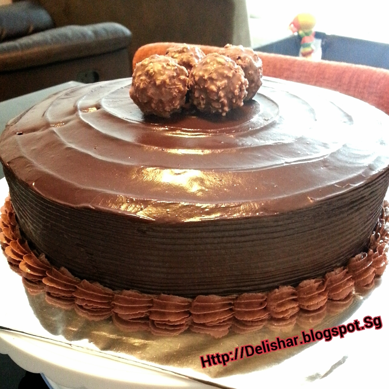 Chocolate Fudge Cake with Chocolate Ganache Frosting and Filling