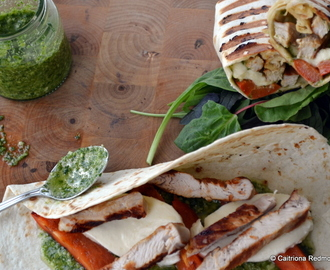 Grilled Turkey Wrap With Pesto