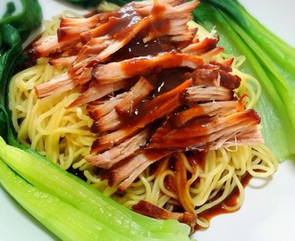 Crockpot Char Siew Pulled Pork Noodles