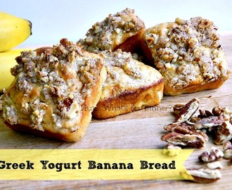 Greek Yogurt Banana Bread (Muffins) & Yoplait Source Greek Yogurt Giveaway #LMDConnector