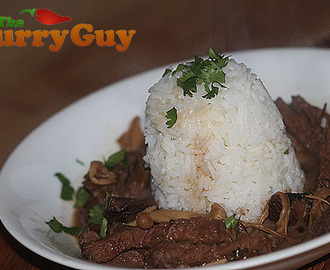 Teriyaki Beef With Mushrooms and Coconut Milk