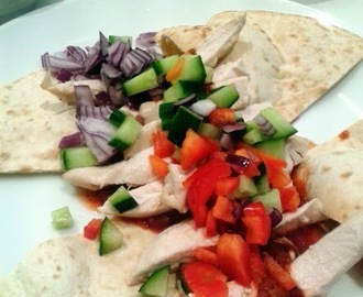 Skinnee Chicken (with homemade kebab shop chilli sauce) Recipe