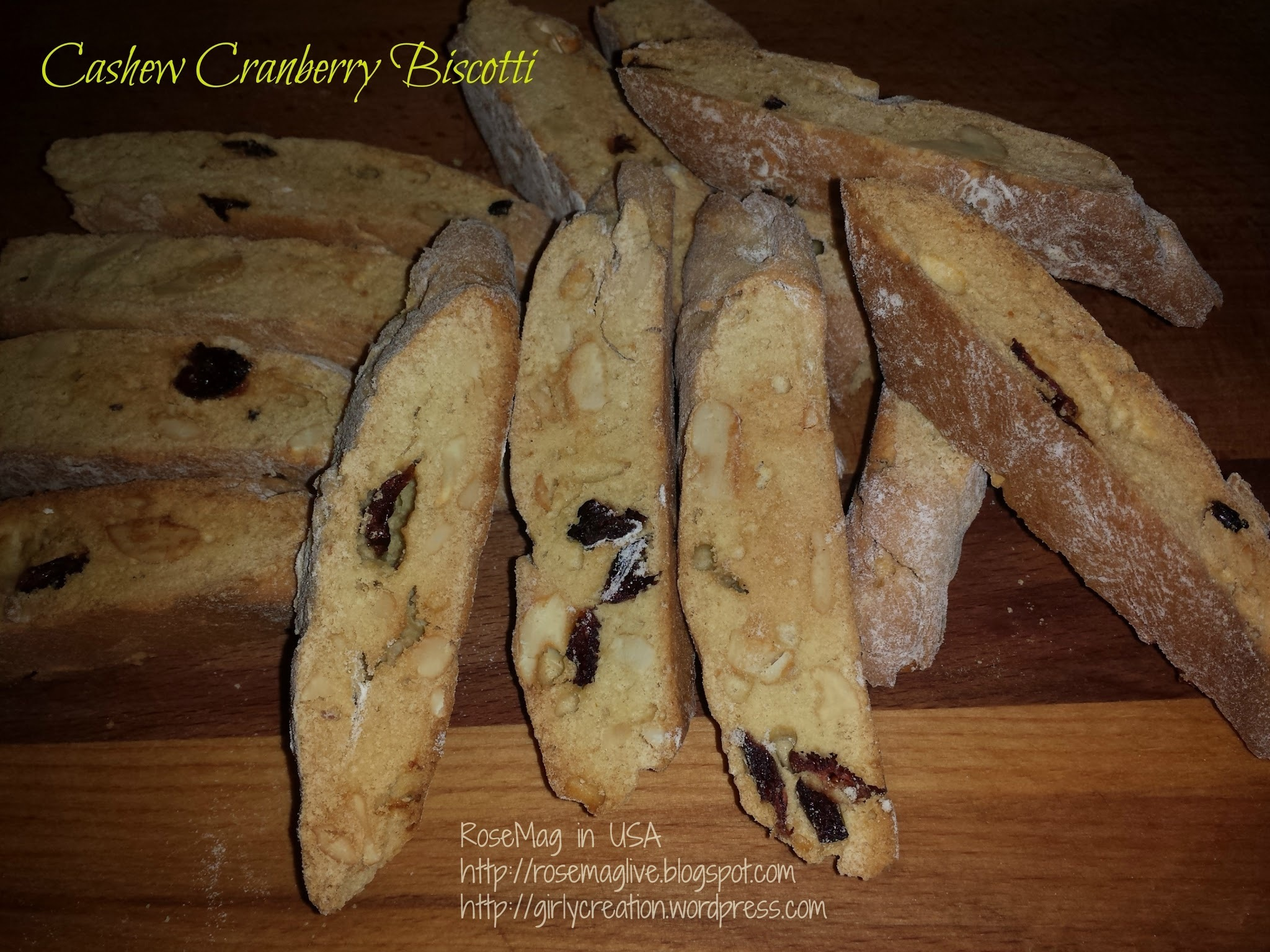 意式腰果蔓越莓餅乾(廚師機版)Cashew Cranberry Biscotti (Bosch Mixer Version)