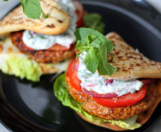 Chicken Tandoori Burgers with a Yoghurt Mint Sauce
