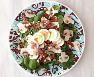 Spinach Salad & Bacon Vinaigrette