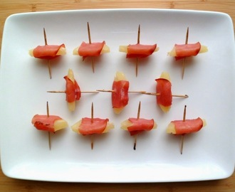Mini brochettes d'ananas au bacon