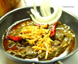 Not so traditional Sarson ka saag! :) Mustard greens curry!