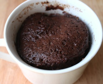 Mug Cake student recipe: Five minute chocolate cup cake