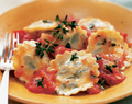 Ravioli with Herbed Goat Cheese Filling