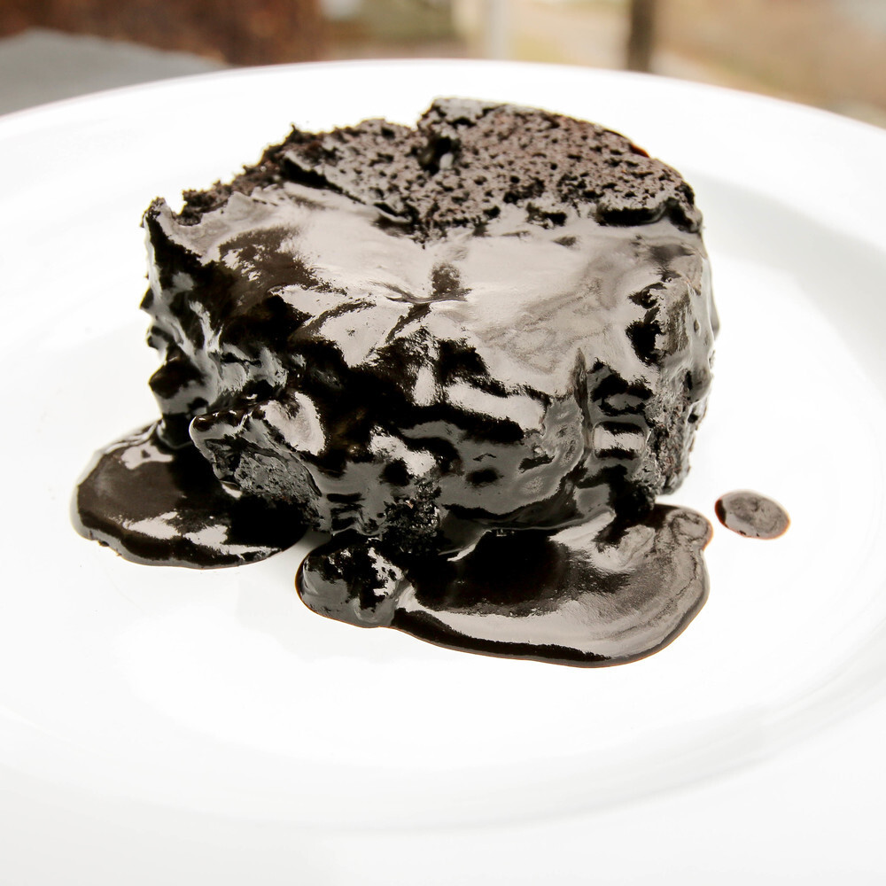 Black Fudge Pudding Cakes
