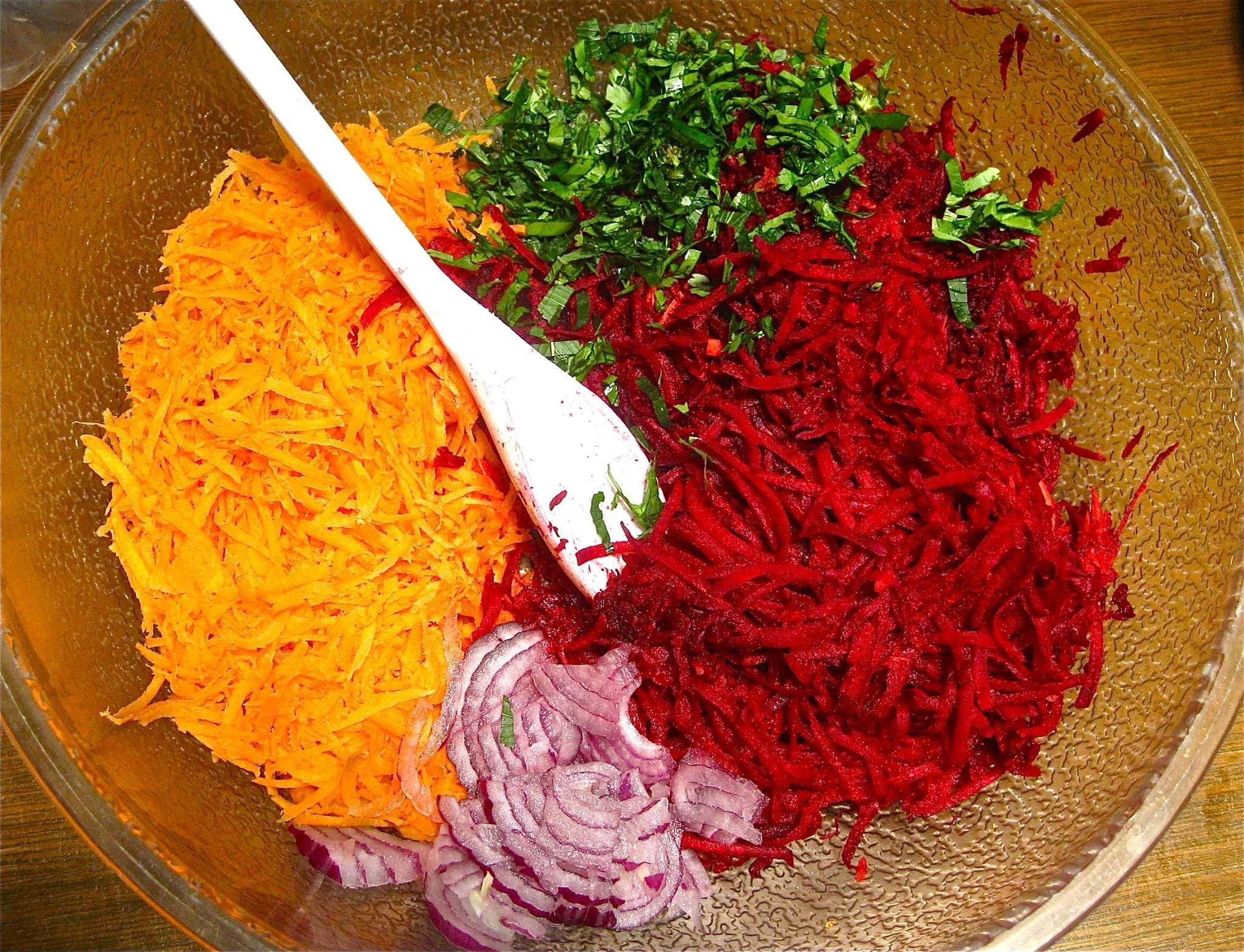 Beet Slaw with Tahini-Ginger Dressing