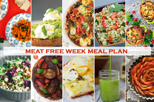 Plan Ahead Your Meat Free Week – Roasted Vegetable Tatin, Raw Peach Tart + Thai Quinoa Salad