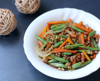Round Bean and Carrots Stir Fry