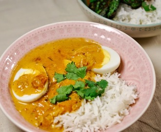 Indiase curry met ei (vegetarisch)