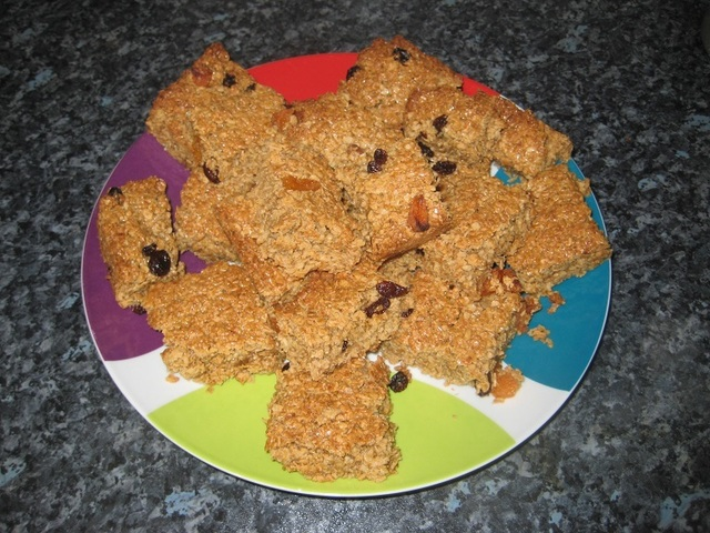 Simple fruity flapjacks