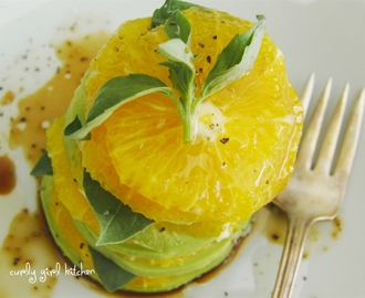 Avocado, Orange and Basil Salad