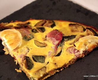 Tarte de ricotta aux courgettes et bacon (Weight Watchers)