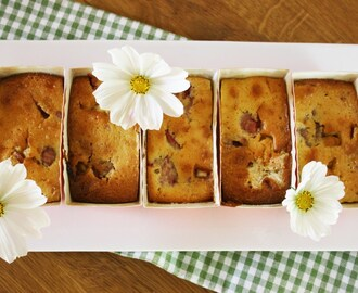 Raspberry and White Chocolate Mini Loaves