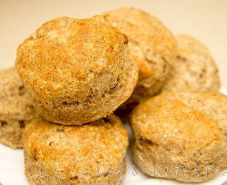 Wholemeal scones, recipe