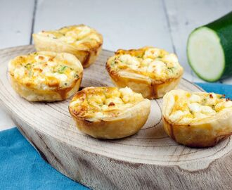 Mini courgette quiches