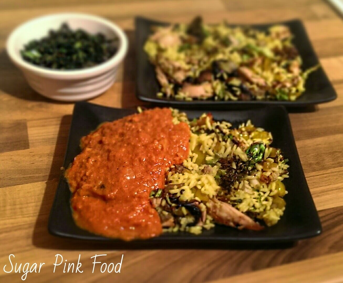 Slimming World Recipe:- Chicken Fried Rice, Curry Sauce & Crispy Seaweed