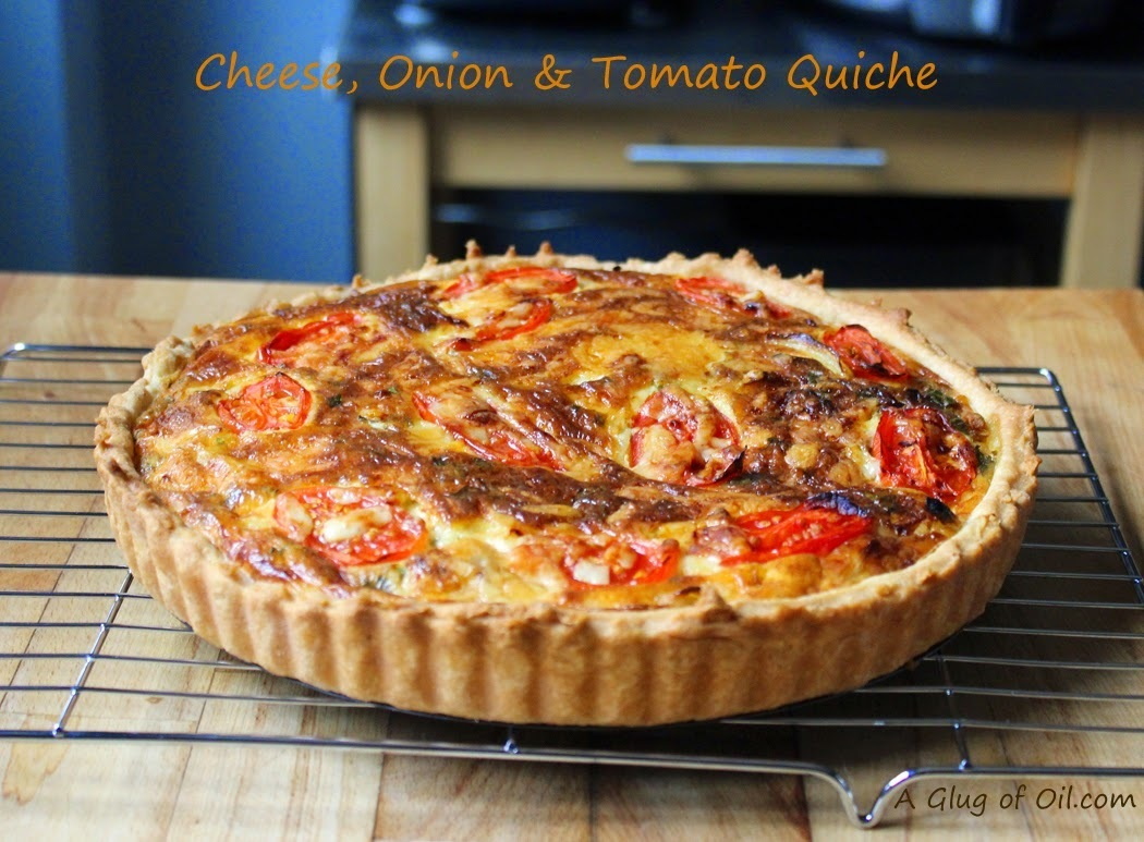 Best Recipe - Cheese Onion and Tomato Quiche