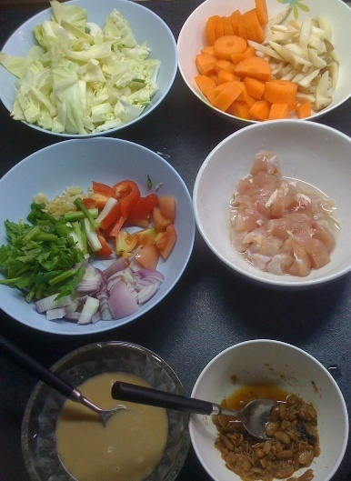 Cooking Mixed Vegetables with Taosi