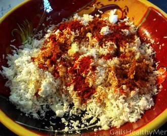 Pol Sambol - Freshly Grated Coconut Salad with Spices and Lime Juice