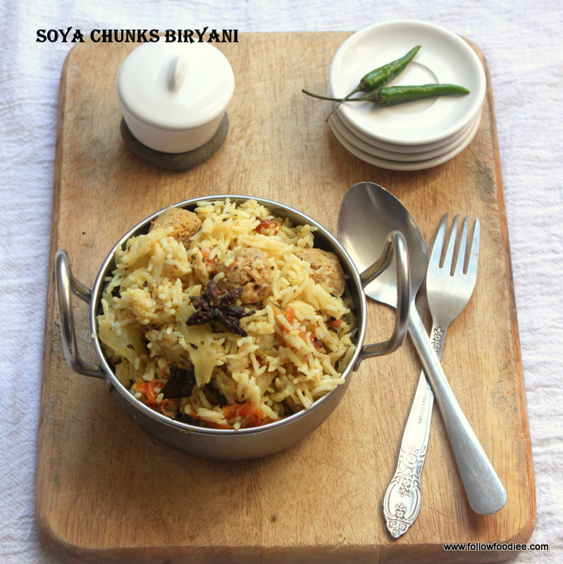 Soya chunks Biryani / Meal Maker Biryani / How to make Soya Biryani / சோயா பிரியாணி