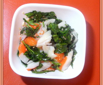 Lunch - Faux Garlic Crab with Buttery Spinach