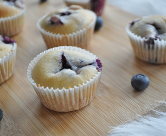 High tea: mini blueberry muffins
